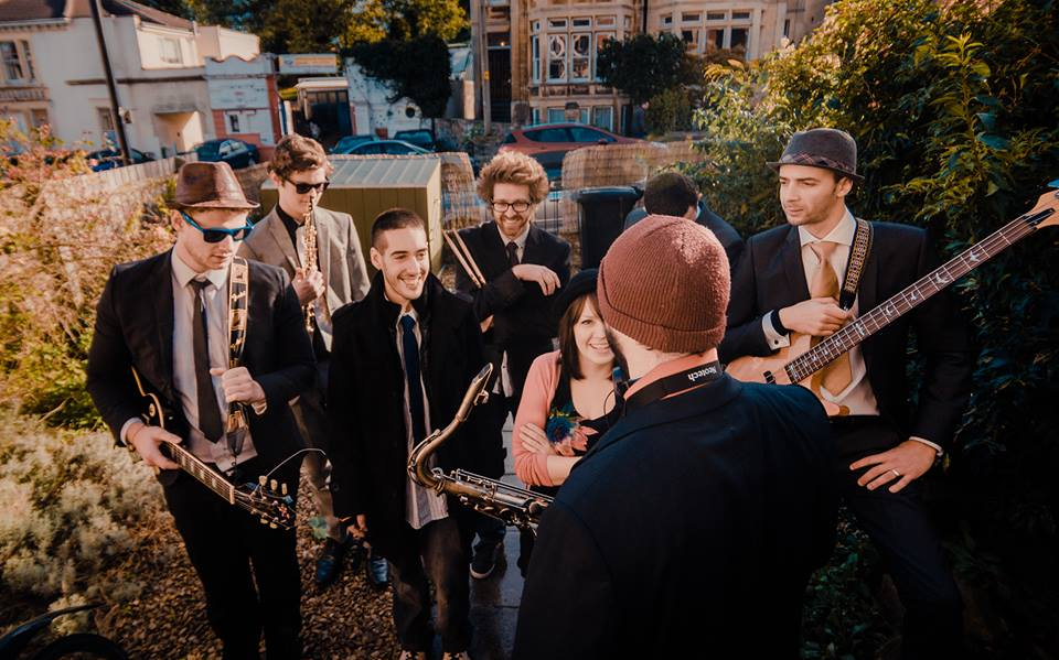 "Filming for the new ""Pinstripe Tux"" video last Sunday"
